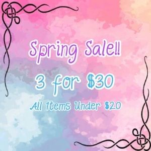🌻Spring Sale!! 3 For $30!! Free Shipping!!🌻
